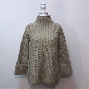 Topshop Alpaca Wool Tan Turtleneck Cozy Sweater 4